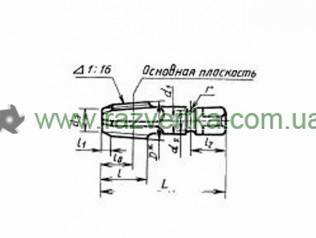 Метчик машинный коническая дюймовая резьба (К) ГОСТ 6227 чертеж