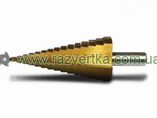 Сверла по металлу ступенчатые с прямой канавкой, хвостовик цилиндрический с трехгранником HRC 61±2