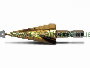 Сверла по металлу ступенчатые шаговое со спиральной канавкой 4-32